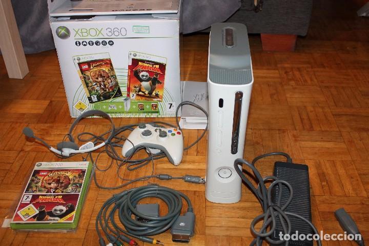 Videojuegos y Consolas: XBox 360 Completa 1 Mando 60 Gb HDD 2 Juegos en Caja Original Microsoft - Foto 2 - 70057321