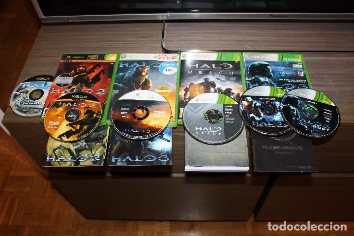 LOTE HALO 1 2 3 REACH Y OST XBOX 360 ORIGINALES (Juguetes - Videojuegos y Consolas - Microsoft - Xbox 360)