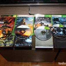 Videojuegos y Consolas: LOTE HALO 1 2 3 REACH Y OST XBOX 360 ORIGINALES. Lote 70057545