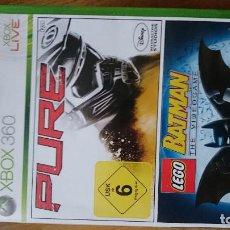 Videojuegos y Consolas: LEGO BATMAN LA SAGA COMPLETA MICROSOFT XBOX 360 VIDEOJUEGO DVD. Lote 70714709