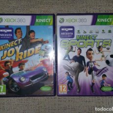 Videojuegos y Consolas: MICROSOFT XBOX 360 - LOTE DE DOS JUEGOS KINECT JOY RIDER T KINECT SPORT PAL ESPAÑA. Lote 71991183