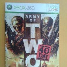 Videojuegos y Consolas: ARMY OF TWO (INSTRUCCIONES). Lote 79755925