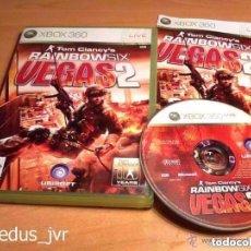 Videojuegos y Consolas: TOM CLANCY'S RAINBOW SIX VEGAS 2 XBOX 360 PAL COMPLETO EN ESPAÑOL EN BUEN ESTADO NO FUNCIONA. Lote 80791450