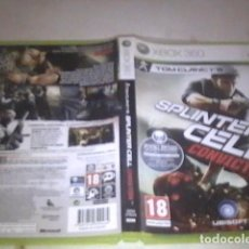Videojuegos y Consolas: SPLINTER CELL CONVICTION COMPLETO XBOX360. Lote 91698300