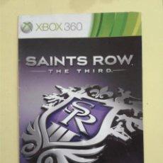 Videojuegos y Consolas: SAINT ROW (INSTRUCCIONES). Lote 93400905