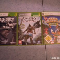 Videojuegos y Consolas: LOTE 3 JUEGO XBOX 360 ASSASSIN´S CREED IV BLACK FLAG , CALL OF DUTY GHOSTS , SEGA SUPERSTARS TENNIS. Lote 96085615