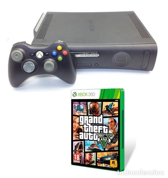 CONSOLA XBOX 360 ELITE 120 GB HDMI + JUEGO GTA V 5 (VER DESCRIPCIÓN) (Juguetes - Videojuegos y Consolas - Microsoft - Xbox 360)