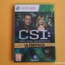 Videojuegos y Consolas: CSI - LA CONSPIRACION XBOX 360. Lote 105316995
