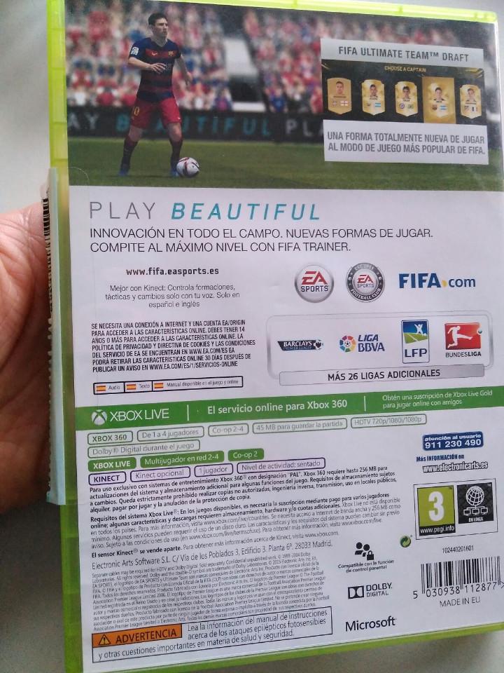 Videojuegos y Consolas: juego xbox 360 fifa 2016 - Foto 2 - 106747271