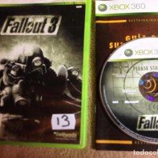 Videojuegos y Consolas: FALLOUT 3 FALL OUT BETHESDA MICROSOFT XBOX 360 X-360 X360 KREATEN. Lote 107346119