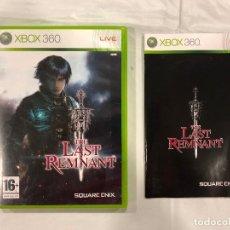 Videojuegos y Consolas: JUEGO XBOX 360 THE LAST REMNANT + MANUAL. Lote 110497995