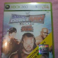 Videojuegos y Consolas: WWE SMACKDOWN VS RAW 2008· MICROSOFT XBOX 360 PAL XBOX 360 XBOX360. Lote 113007047