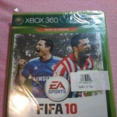 Videojuegos y Consolas: JUEGO FIFA 10 XBOX 360 NUEVO PRECINTADO PAL ESP. Lote 113124343