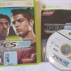 Videojuegos y Consolas: PRO EVOLUTION SOCCER 2008 PES XBOX 360 PAL ESPAÑA. Lote 113195907