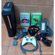 Videojuegos y Consolas: CONSOLA XBOX 360 ÉLITE DE 120GB CON ACCESORIOS. Lote 113489103
