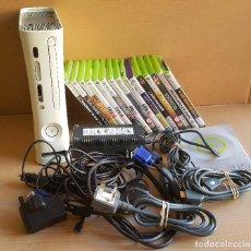 Videojuegos y Consolas: SUPER LOTE CONSOLA XBOX360 + 15 JUEGOS, MANUAL Y CONECTORES VARIOS. Lote 114976027