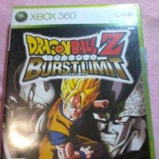 Videojuegos y Consolas: DRAGON BALL Z BURST LIMIT BURSTLIMIT / JUEGO XBOX 360 / PAL / BANDAI 2008 . Lote 116372155