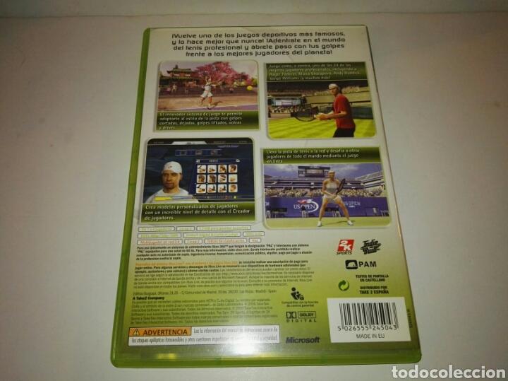 Videojuegos y Consolas: Top Spin 2pal España Xbox 360 - Foto 2 - 117250366