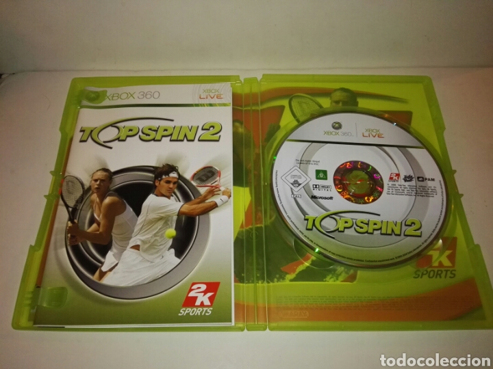 Videojuegos y Consolas: Top Spin 2pal España Xbox 360 - Foto 3 - 117250366