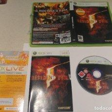 Videojuegos y Consolas: RESIDENT EVIL 5 XBOX360 XBOX 360 COMPLETO PAL-ESPAÑA . Lote 119301171