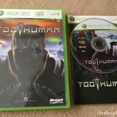 Videojuegos y Consolas: TOO HUMAN SUBTITULOS EN CASTELLANO - XBOX 360 X360 X-360 KREATEN. Lote 120355931