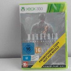 Videojuegos y Consolas: JUEGO XBOX 360 MURDERED . Lote 121848351