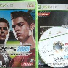 Videojuegos y Consolas: JUEGO XBOX 360 PES 2008. Lote 128189075