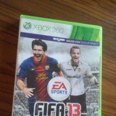 Videojuegos y Consolas: FIFA 13. XBOX 360 SIN LIBRETO. BUEN ESTADO. . Lote 129032163