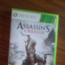Videojuegos y Consolas: ASSASSIN´S CREED III. XBOX 360 CON LIBRETO. BUEN ESTADO. . Lote 129032619