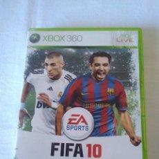 Videojuegos y Consolas: 11-JUEGO XBOX 360, FIFA 10. Lote 129154243