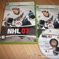Videojuegos y Consolas: JUEGO XBOX 360 NHL 07. Lote 129197687