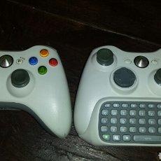 Videojuegos y Consolas: MANDO XBOX 360 2 MANDOS Y TECLADO. Lote 131171189