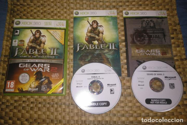 JUEGO XBOX 360 - FABLE II 2 / Gears of war 2 GOTY COMPLETO - PAL ESPAÑA