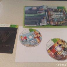 Videojuegos y Consolas: GTA 5 GRAND THEFT AUTO V XBOX360 COMPLETO PAL-ESPAÑA . Lote 133455962