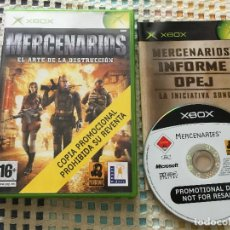 Videojuegos y Consolas: MERCENARIOS EL ARTE DE LA DESTRUCCION COPIA PROMOCIONAL XBOX X-BOX X BOX 1 KREATEN. Lote 133589050