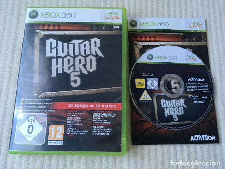 GUITAR HERO 5 V- XBOX 360 X-360 X-BOX kreaten