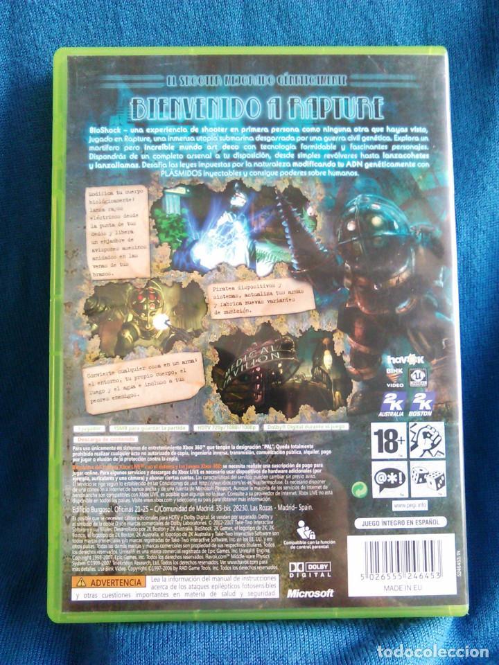 Videojuegos y Consolas: Videojuego Bioshock 1, para la consola XBOX 360. 2K Tales. Juego de Aventuras. - Foto 4 - 136257818