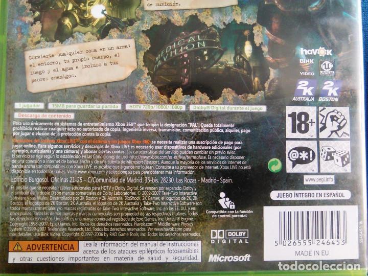 Videojuegos y Consolas: Videojuego Bioshock 1, para la consola XBOX 360. 2K Tales. Juego de Aventuras. - Foto 5 - 136257818