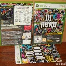 Videojuegos y Consolas: DJ HERO - XBOX 360 CON MANUAL DE INSTRUCCIONES . Lote 141936894