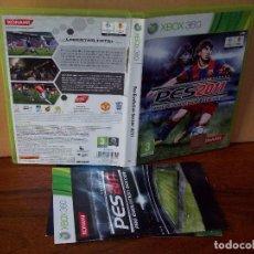 Videojuegos y Consolas: PRO EVOLUTION SOCCER PES 2011 - XBOX 360 - CON MANUAL DE INSTRUCCIONES . Lote 142044282