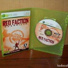 Videojuegos y Consolas: RED FACTION- GUERRILLA - XBOX 360 - CON MANUAL DE INSTRUCCIONES - SIN CARATULA JUEGO. Lote 142046862