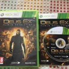 Videojuegos y Consolas: DEUS EX HUMAN REVOLUTION EIDOS SQUARE ENIX PAL XBOX 360 X360 X-360 KREATEN VIDEOJUEGO. Lote 143194866