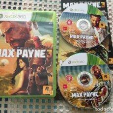 Videojuegos y Consolas: MAX PAYNE 3 ROCKSTAR III PAL XBOX 360 X360 X-360 KREATEN VIDEOJUEGO. Lote 143197614