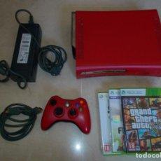 Videojuegos y Consolas: CONSOLA XBOX 360 EDICIÓN LIMITADA. PERFECTO ESTADO. CON TRES JUEGOS. GTA. MANDO Y CABLES. Lote 149683498