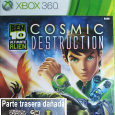 Videojuegos y Consolas: BEN 10 ULTIMATE ALIEN COSMIC DESTRUCTION. CAJA DAÑADA (VER FOTOGRAFÍAS). XBOX 360. NUEVO,PRECINTADO.. Lote 149893542