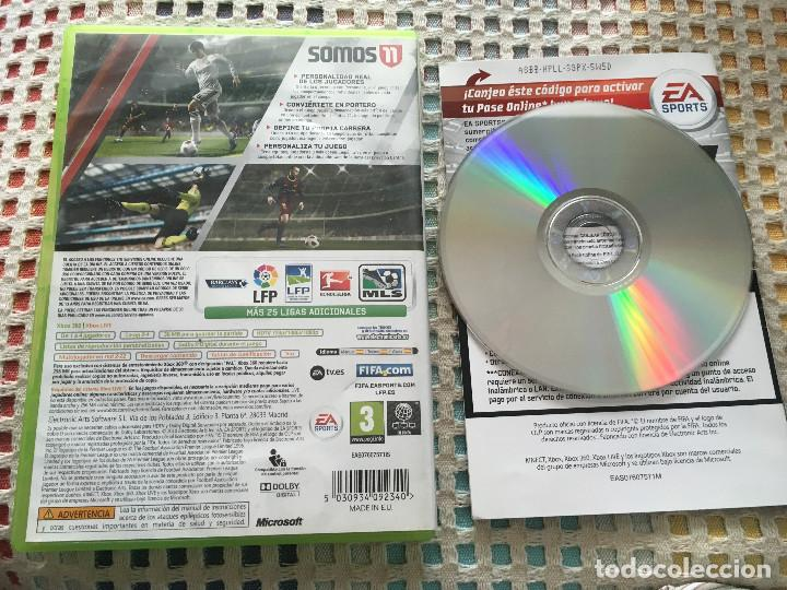 Videojuegos y Consolas: FIFA 11 XBOX 360 X360 X-360 microsoft ea sports KREATEN - Foto 2 - 150026654