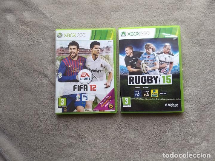 FIFA 12 + RUGBY 15. XBOX 360. (Juguetes - Videojuegos y Consolas - Microsoft - Xbox 360)