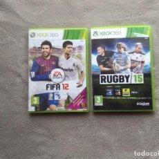 Videojuegos y Consolas: FIFA 12 + RUGBY 15. XBOX 360.. Lote 150638518