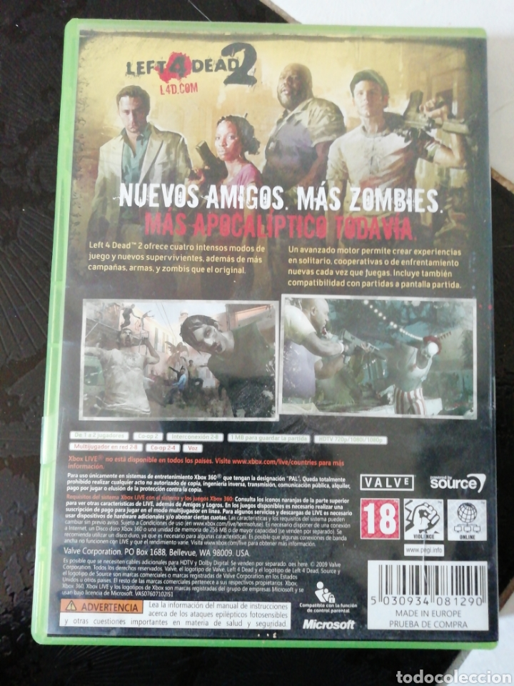 Left 4 dead 2 xbox360 - Sold at Auction - 150639372