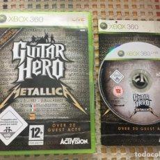 Videojuegos y Consolas: GUITAR HERO METALLICA GUITARHERO MICROSOFT XBOX X360 X-360 KREATEN. Lote 151327446